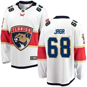Adult Breakaway Florida Panthers Jaromir Jagr White Away Official Fanatics Branded Jersey