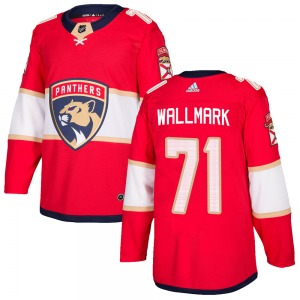 Adult Authentic Florida Panthers Lucas Wallmark Red ized Home Official Adidas Jersey